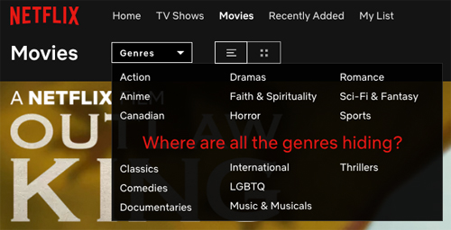 Where are the genres hiding?